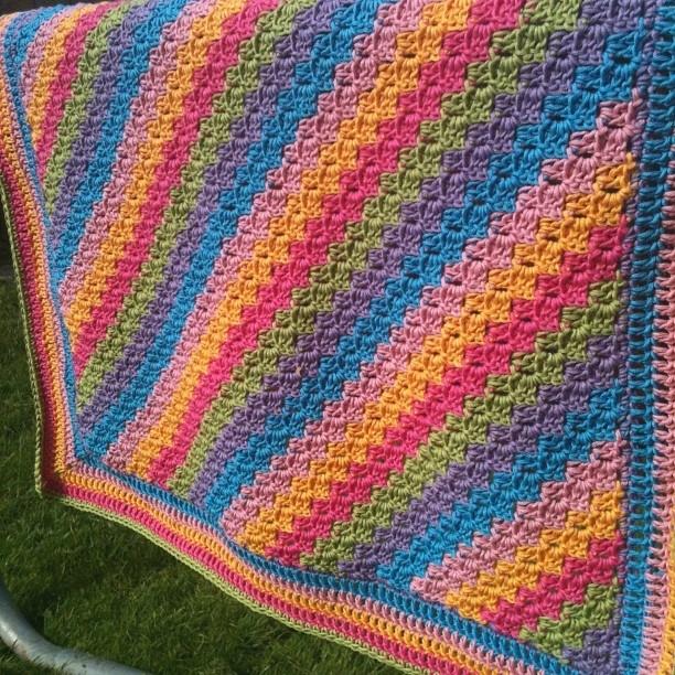 Lapny Striped Crochet Pattern Lapghan Stripes Apronbasket Com