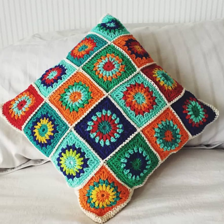 basketweave-tunisian-crochet-pillow
